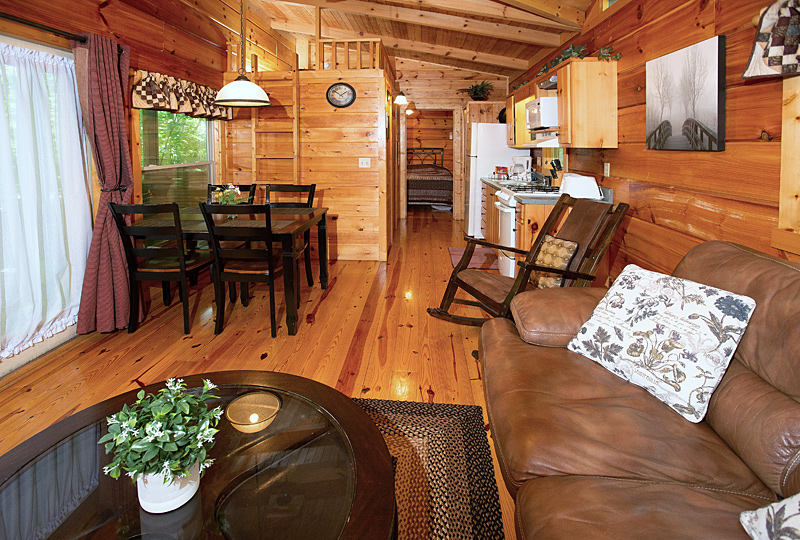 White Tail Ridge Luxury Log Cabin Kitchen