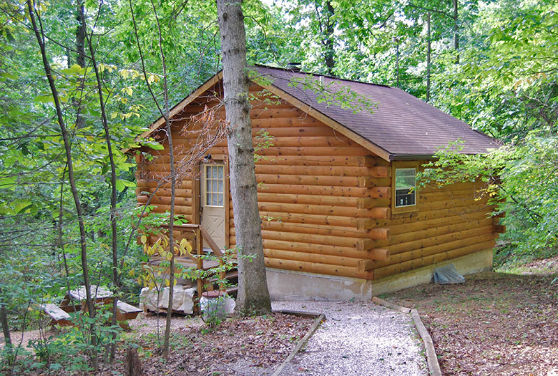 Hide & Seek Luxury Log Cabin Exterior