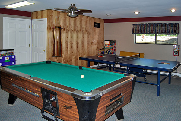 Game Room at Ole Mink Farm Recreation Resort
