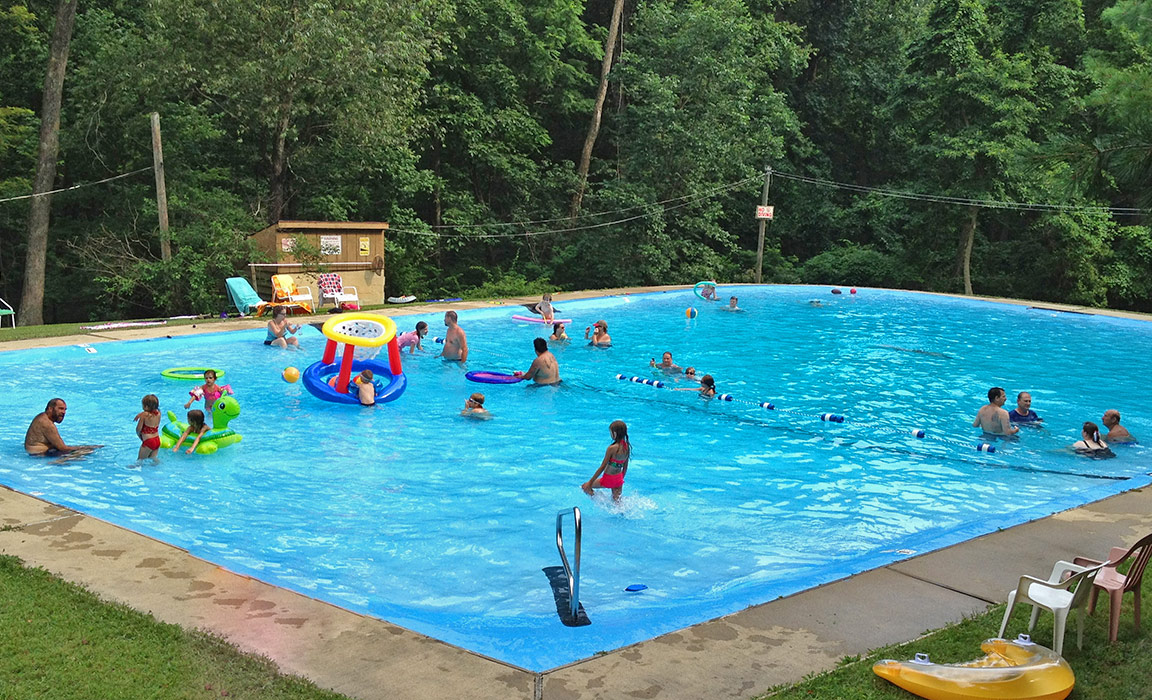 Swimming Pool at Ole Mink Farm