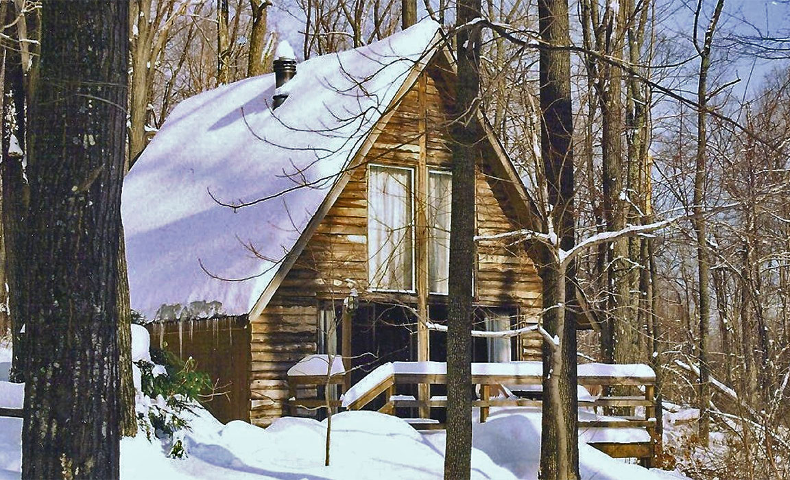 A Winter Cabin at Ole Mink Farm